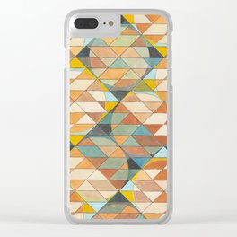 Triangles and Circles Pattern no.23 Clear iPhone Case