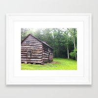 cabin Framed Art Prints featuring Cabin by artofabeatingheart