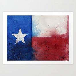 Flag of Texas Art Print