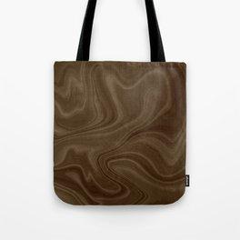 Chocolate Brown Swirl Tote Bag