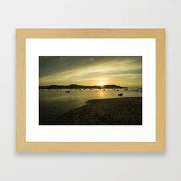 Torridge estuary sunset  Framed Art Print