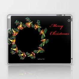 Fractal Christmas Wreath Laptop & iPad Skin
