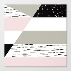 Birch Lines Pillow Canvas Print