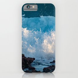 Relaxation Blue Ocean Sea Waves iPhone Case