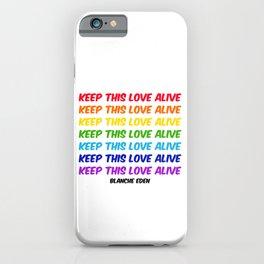 KTLA, Typography Wall Art, Rainbow Colors, Love, LGBTQ+, Art Prints iPhone Case
