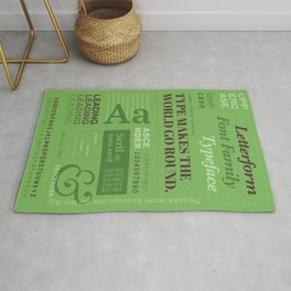Typography Poster (Green) Rug