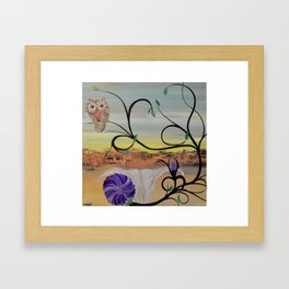 Original Acrylic Artwork By MiMi Stirn -  HooMasters Collection -HooOkeeffe  #415 Framed Art Print