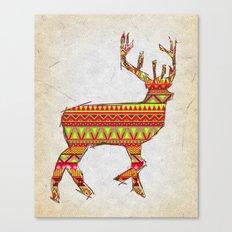 Deer Navajos - christmas pattern Canvas Print