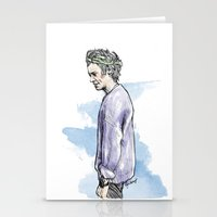 cyrilliart Stationery Cards featuring Lilac Haz by Cyrilliart