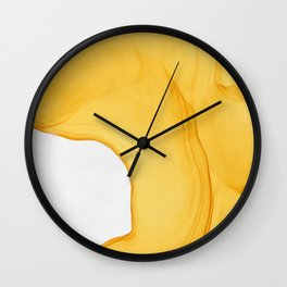 Yellow Ink Wall Clock