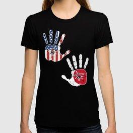 USA Japan Handprint & Flag | Proud Japanese American Heritage, Biracial American Roots, Culture, T-shirt