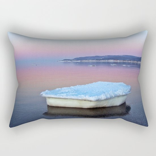 Ice Raft on the Sea Rectangular Pillow