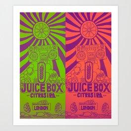Juice Box IPA Art Print