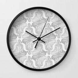 lotus pose mono Wall Clock