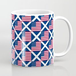 Mix of flag : usa and scotland Coffee Mug