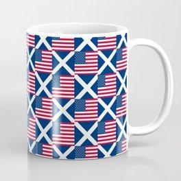Mix of flag: usa and scotland Coffee Mug