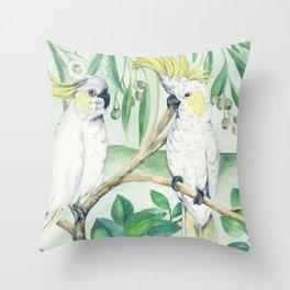 Saffron Cockatoo Throw Pillow