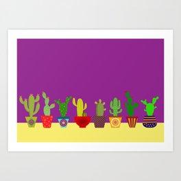 Cactus in Purple Art Print