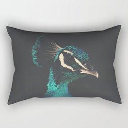 peacock and proud Rectangular Pillow