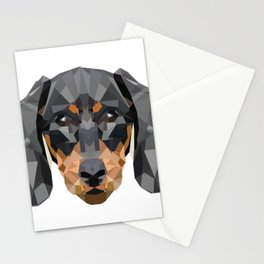 Dachshund | Low-poly Art Stationery Cards