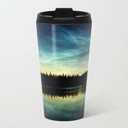Noctilucent Clouds Over Forest Lake Travel Mug