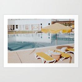 vintage summer poolside Art Print