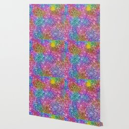 Starry Night, Starry Bright Abstract Pattern Wallpaper