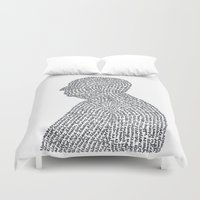 hitchcock Duvet Covers featuring Hitchcock by S. L. Fina