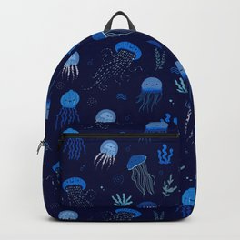 Ocean of jellyfish - pattern Backpack