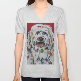 English Sheepdog Unisex V-Neck