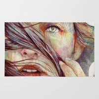 michael jackson Area & Throw Rugs featuring Opal by Michael Shapcott