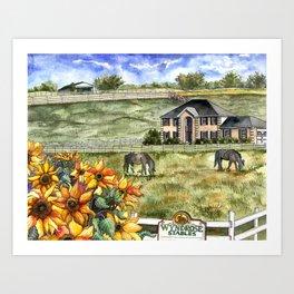 The Horse Ranch Art Print