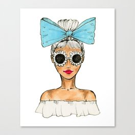 Bow & Sunnies Canvas Print