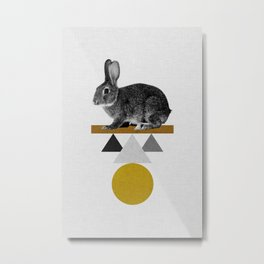 Tribal Rabbit Metal Print