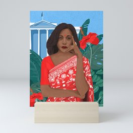 Kamala Harris White House Desi Mini Art Print