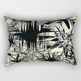 White Chaos Rectangular Pillow