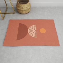abstract series three (terra) Rug