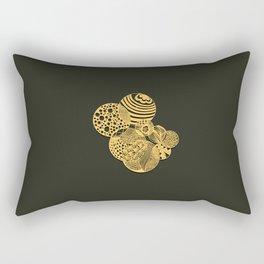 Zen the circles Rectangular Pillow
