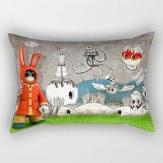 Super Bunny Rectangular Pillow