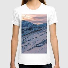 mountain snow peaks tre cime di lavaredo mountain range T-shirt