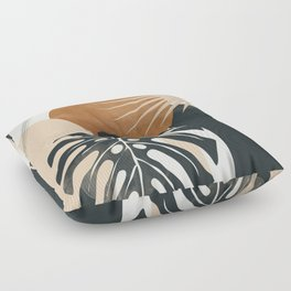 Abstract Art Tropical Leaves 7 Floor Pillow