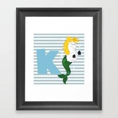 k for kelpie Framed Art Print