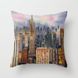 Skyscrapers of New York Throw Pillow