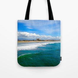 Huntington Beach Surfers Tote Bag