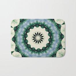 Cerulean Blue and Sacramento Green Mandala Bath Mat