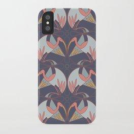 Art Deco Cranes - Lavender/Pink iPhone Case