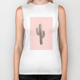 Feeling Prickly - Cactus Print in Peach Biker Tank