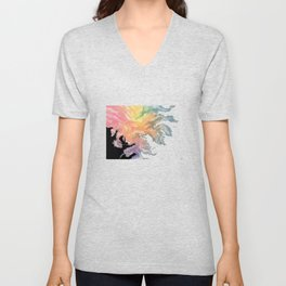 colourful sky dive Unisex V-Neck