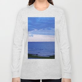 Blue on Blue at the River Mouth Long Sleeve T-shirt