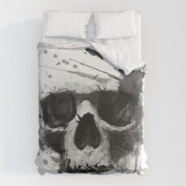 Skull illustration. Comforters